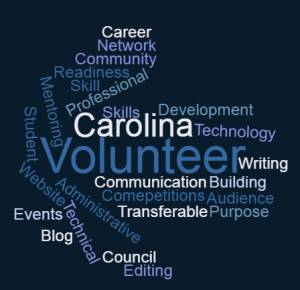 Image of words corresponding to volunteering
