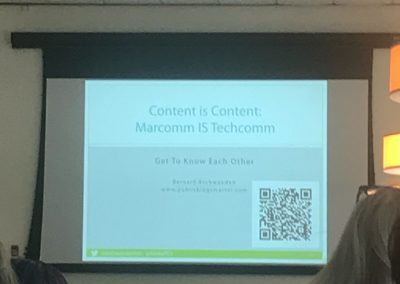 Bernard Aschwanden presentation on marketing and tech comm