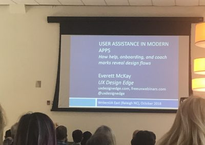 Everett McKay presentation on user assistance in apps