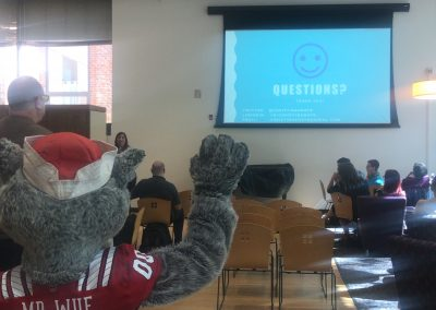Mr. Wuf joined the party for questions