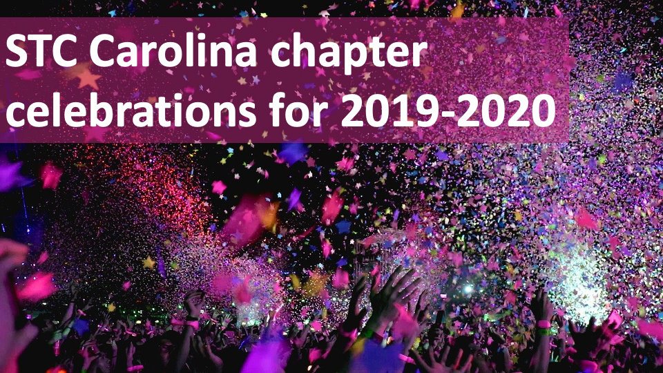 Celebrating your work that made the Carolina chapter a smashing success in 2019-2020