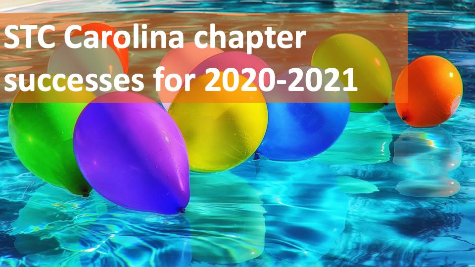 Celebrating Carolina Chapter Awards in 2020-2021